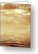 Beach Greeting Cards - Illusion Never Changed Into Something Real Greeting Card by Dana DiPasquale