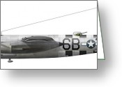 Old-fashion Digital Art Greeting Cards - Illustration Of A Martin-b-26 Marauder Greeting Card by Chris Sandham-Bailey