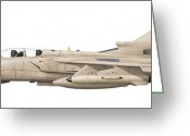 Vector Image Greeting Cards - Illustration Of A Panavia Tornado Gr1 Greeting Card by Chris Sandham-Bailey