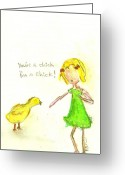 Little Girls98 Greeting Cards - Im a Chick Greeting Card by Ricky Sencion