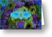 Robert Matson Greeting Cards - Im A Hippie Man Greeting Card by Robert Matson