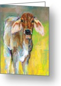 Western Pastels Greeting Cards - Im All Ears Greeting Card by Frances Marino