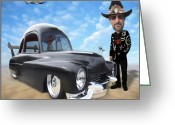 Hot Rod Greeting Cards - Im Back . . . Greeting Card by Mike McGlothlen