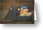 Suitcase Greeting Cards - Im Going With You Greeting Card by Laurie Search