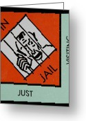 Monopoly Digital Art Greeting Cards - Im Not A Prisoner... Im A Free Man Greeting Card by Rob Hans