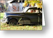 Antique Cars Greeting Cards - Im Only Sleeping Greeting Card by Jan Amiss Photography