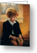 Redhead Greeting Cards - Im Trying To Be Like Jesus Greeting Card by Greg Olsen
