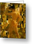 Nudes Males Greeting Cards - Im Waiting For You    Male Greeting Card by Kurt Van Wagner