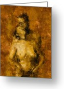 Figurative Greeting Cards - Im Yours Forever Greeting Card by Kurt Van Wagner
