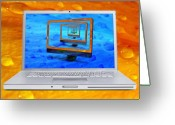 Imac Greeting Cards - Imac On Mac Greeting Card by Donald Schwartz