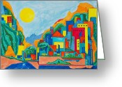 Representative Abstract Greeting Cards - Images of Italy Greeting Card by David Raderstorf