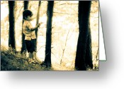 Childhood Photo Greeting Cards - Imagination and Adventure Greeting Card by Bob Orsillo