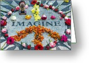 Tile Greeting Cards - Imagine Peace Greeting Card by Sharla Gentile