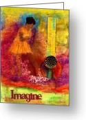 Survivor Mixed Media Greeting Cards - Imagine Winning Greeting Card by Angela L Walker