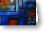 Colorful Photography Painting Greeting Cards - Imaging Light Greeting Card by Uma Devi