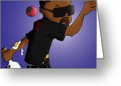 Kanye West Painting Greeting Cards - Imma let you finish this... Greeting Card by Asa Charles