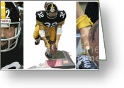 Pittsburgh Steelers Greeting Cards - Immaculate Franco Greeting Card by David Bearden