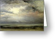 Courbet Greeting Cards - Immensity Greeting Card by Gustave Courbet