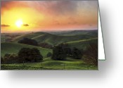 Horizon Over Land Greeting Cards - Immortal Fire Greeting Card by Ray Warren