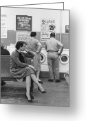 Hand On Hip Greeting Cards - Impatient Washers Greeting Card by Winfield J. Parks Jr.