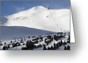 Winter Sports Photo Greeting Cards - Imperial Bowl on Peak 8 at Breckenridge Colorado Greeting Card by Brendan Reals