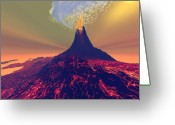 Catastrophe Greeting Cards - Imposing Greeting Card by Corey Ford