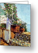 Europe Painting Greeting Cards - Impressions Of The Riviera Greeting Card by David Lloyd Glover