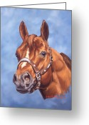 Quarter Horses Greeting Cards - Impressive Greeting Card by Howard Dubois