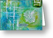 Experimental Mixed Media Greeting Cards - Imprintation 1 Greeting Card by Phyllis Howard