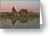Mound Greeting Cards - In a Mirror Greeting Card by William Fields