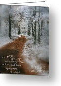 Paths Greeting Cards - In All Your Ways Greeting Card by Debra Straub
