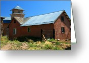 Elizabeth Rose Greeting Cards - In Back of Church in Truchas New Mexico Greeting Card by Elizabeth Rose