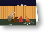 Dogs Digital Art Greeting Cards - In Bad Time On The Bad Place Greeting Card by Michal Boubin