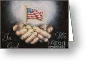 States Pastels Greeting Cards - In God We Trust Greeting Card by Heidi Dwyer
