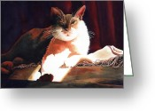 Fur Stripes Greeting Cards - In Her Glory II               Greeting Card by Kathy Braud