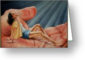 Ruth Gee Greeting Cards - In His Presence Rest Greeting Card by Ruth Gee
