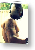 African Warrior Greeting Cards - In His Sights   The Warrior Series Greeting Card by Jake Hartz