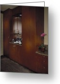 Cupboards Greeting Cards - In-home Bar Greeting Card by Robert Pisano