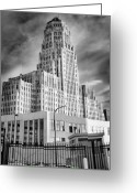 Gray-scale Greeting Cards - In Its Shadow Greeting Card by Chuck Alaimo