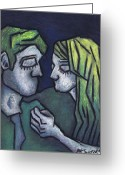 Fine Arts Pastels Greeting Cards - In Love Greeting Card by Kamil Swiatek