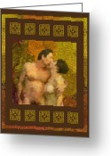 Making Love Greeting Cards - In Love Greeting Card by Kurt Van Wagner
