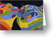 Abstract Greeting Cards - In Love Greeting Card by Patti Siehien