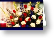 4th July Digital Art Greeting Cards - In Memory Greeting Card by Michelle Frizzell-Thompson