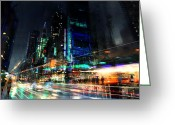 Futuristic Greeting Cards - In Motion Greeting Card by Philip Straub