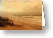 Sea Digital Art Greeting Cards - In My Dreams The Ocean Sings - Jersey Shore Greeting Card by Angie McKenzie