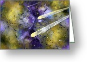Studio Glass Art Greeting Cards - In My Dreams Unrestrained II Greeting Card by EJ Lefavour
