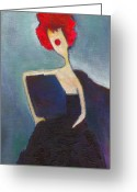 Modigliani Greeting Cards - In My Evening Dress Greeting Card by Ricky Sencion