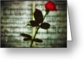 Sheet Music Digital Art Greeting Cards - In My Life Greeting Card by Bill Cannon