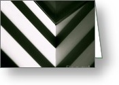 Lines Greeting Cards - In Or Out Greeting Card by CML Brown