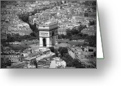 Canadian Photographer Greeting Cards - In Paris BW Greeting Card by Kamil Swiatek